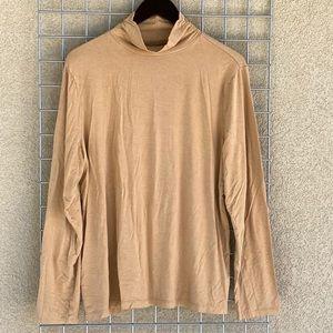 Skin Tone Long Sleeve Mock Neck Basic Long Sleeve